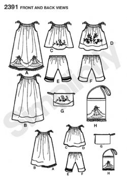 2391 Simplicity Pattern: Child's Vintage Pillowcase Fashion